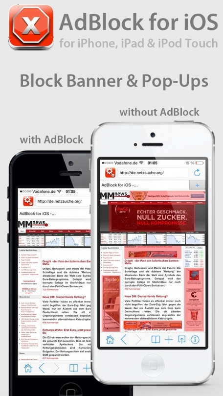 AdBlock for iOS - Must Have App for iOS 7 - for iPhone, iPad and iPod Touch