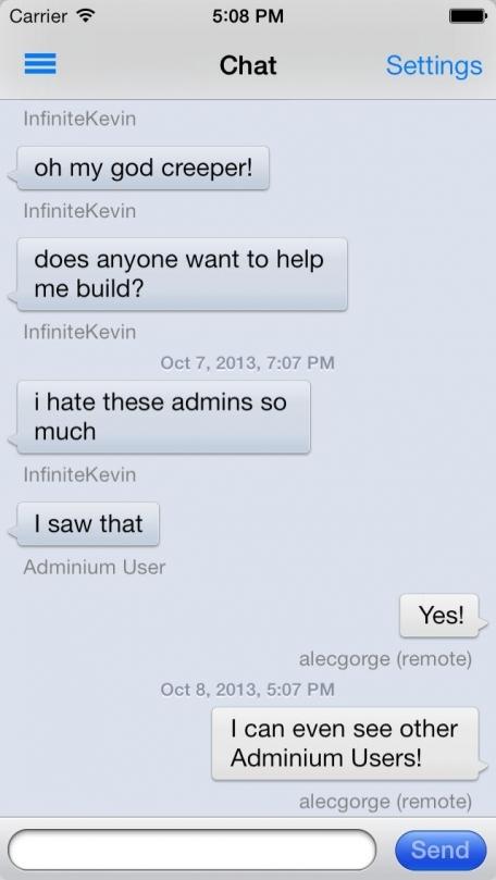 Adminium for Minecraft, Bukkit and Forge Servers