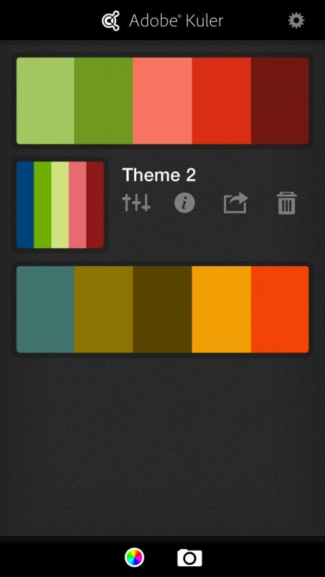 Adobe Kuler – Create and share color themes