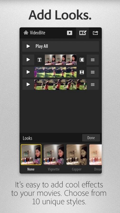 Adobe® VideoBite- Your quick and fun movie maker