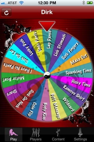 Adult Wheel of Foreplay