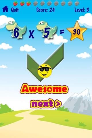 Advanced Dinosaur Kids Math Game