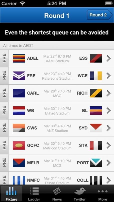 AFL Live Scores Footy Now