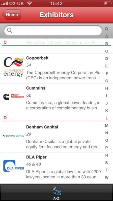 Africa Energy Forum 2013 Networking App