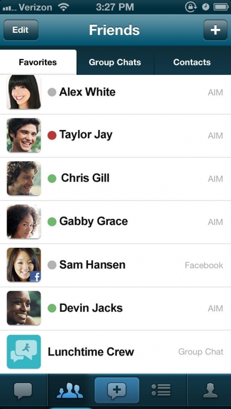 AIM: Free SMS, Chat, Group Chat, Voice Messages