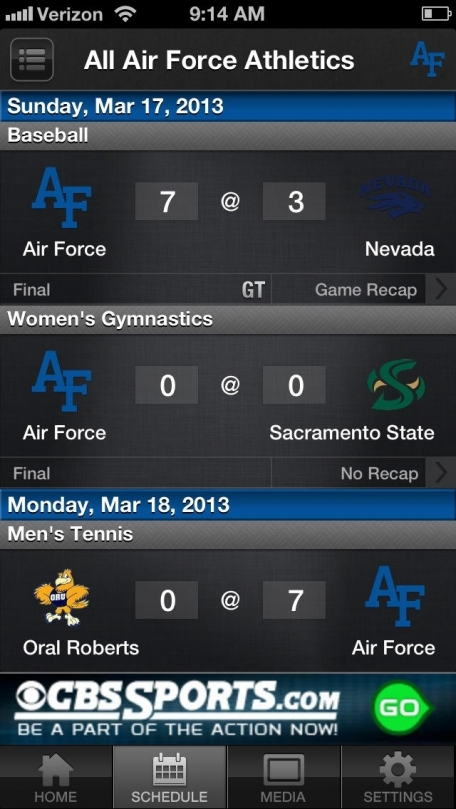 Air Force Falcon Sports
