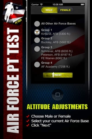Air Force PT Test