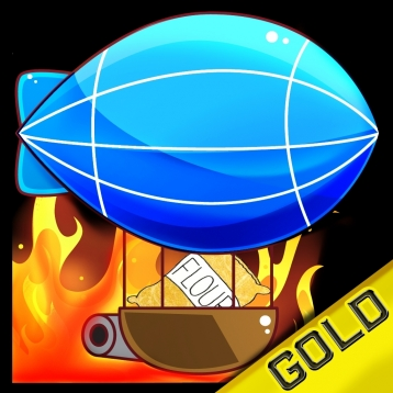 Airship Flour Bomb Throwing In The Cookies City - Gold Edition