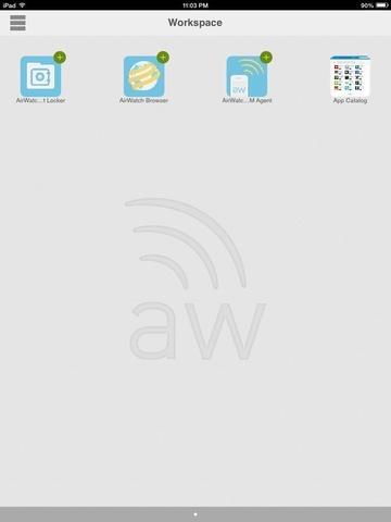 AirWatch Workspace