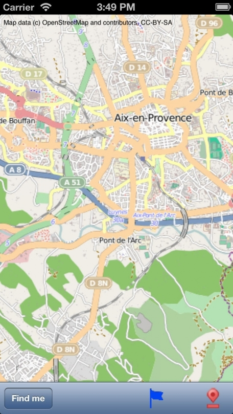 Aix-en-Provence Street Map