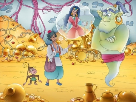 Aladdin and The Magic Lamp - A Free Interactive Children's Storybook for Kids & Parents