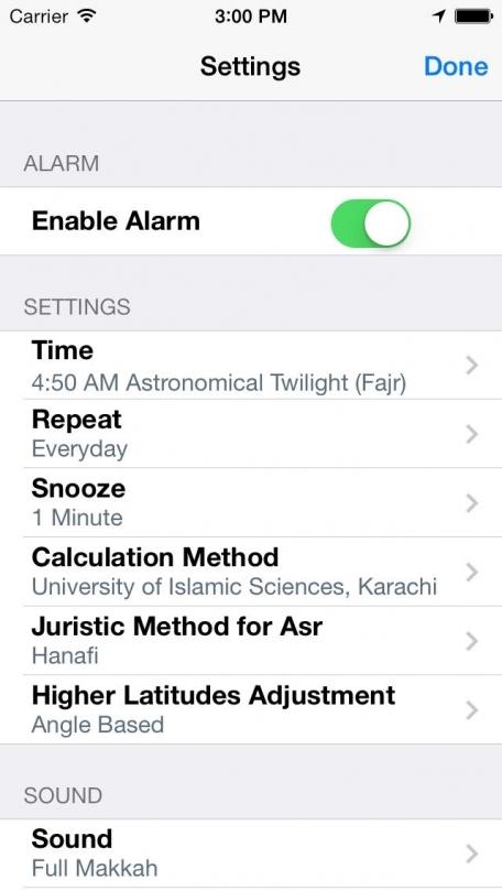 Alarm Clock for Muslims with Full Azan