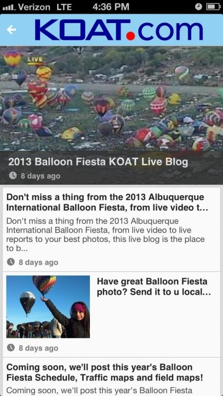Albuquerque Fiesta Tracker by KOAT