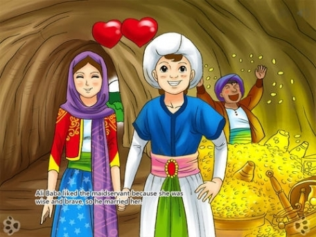 Ali Baba and the Forty Thieves - Interactive Book iBigToy