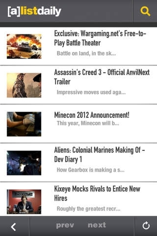 A-List Daily Video Game and Entertainment Industry News
