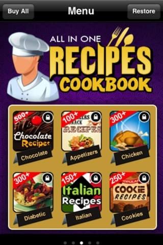 All in One Recipes Cookbook**