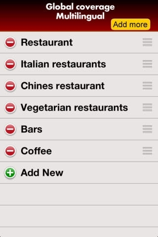 All restaurants around you