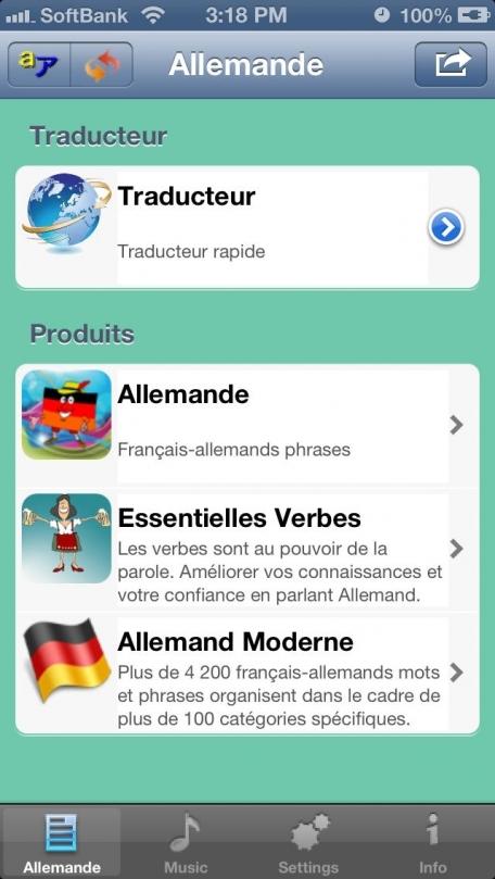 Allemand - Talking French to German Phrasebook + Translator