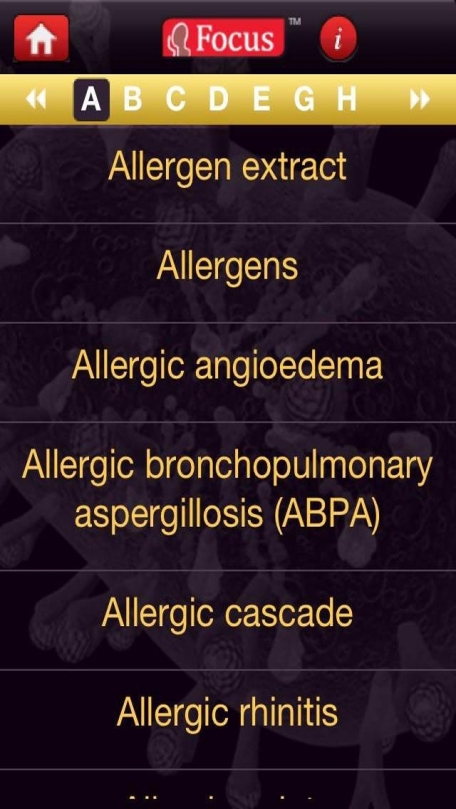 Allergy Visual Medical Dictionary Series