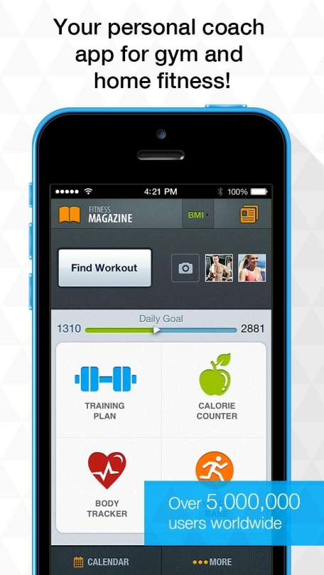 All-in Fitness by Sport.com: 1200 Exercises, Workouts, Calorie Counter, BMI calculator