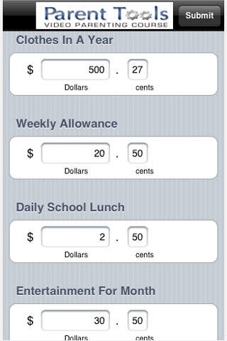 Allowance Calculator
