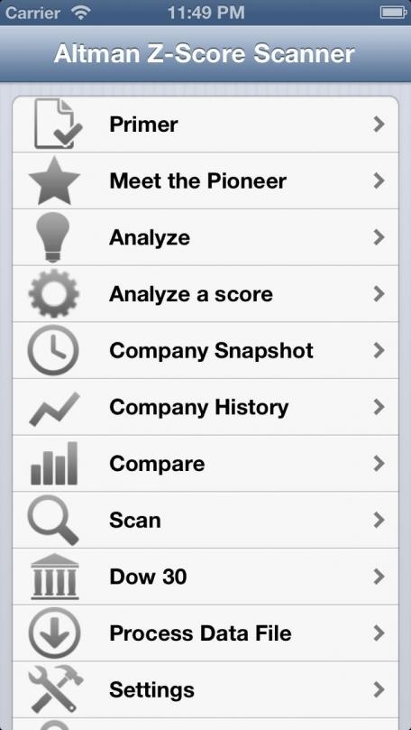 Altman Z-Score Scanner