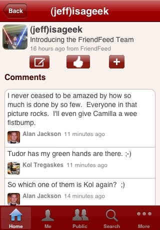 amigo - a FriendFeed client