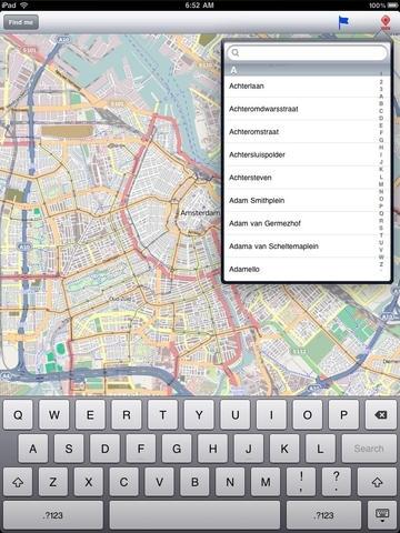 Amsterdam Street Map.