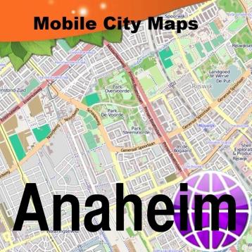 Anaheim and Disneyland Street Map