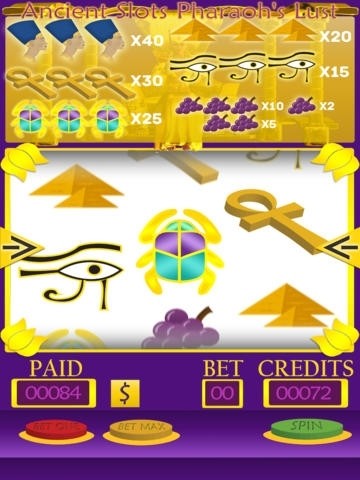 Ancient Slots - Pharaoh's Lust Free Edition