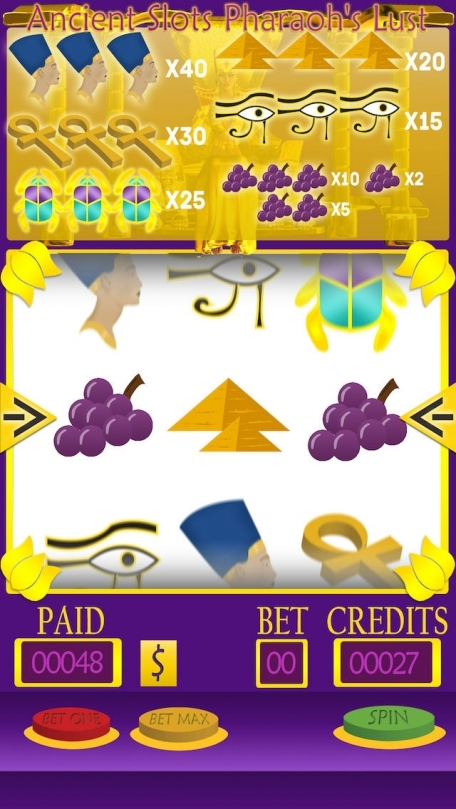 Ancient Slots - Pharaoh's Lust Gold Edition