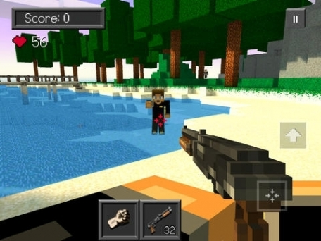 Anger games survival mini shooter game with skins for Survival crafting games pc