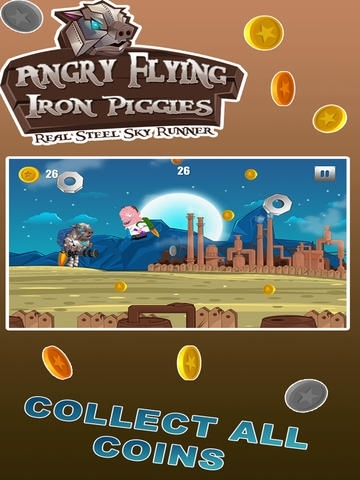 Angry Flying Iron Piggies - Real Steel Sky Runner