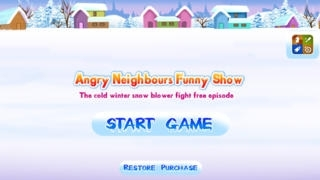 Angry Neighbours Funny Show – The cold winter snow blower fight free episode - Gold Edition