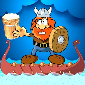 Angry Viking fighting for free beer - Free Edition