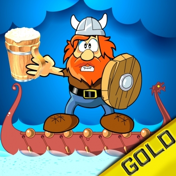 Angry Viking fighting for free beer - Gold Edition