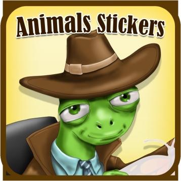 Animals Card Designer -  Create cards using animals stickers