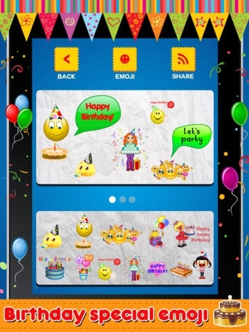 Animated 3D Birthday Emoji, Wishes, Cards & Emoticons