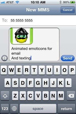 Animated Emoticons for SMS/MMS and Email