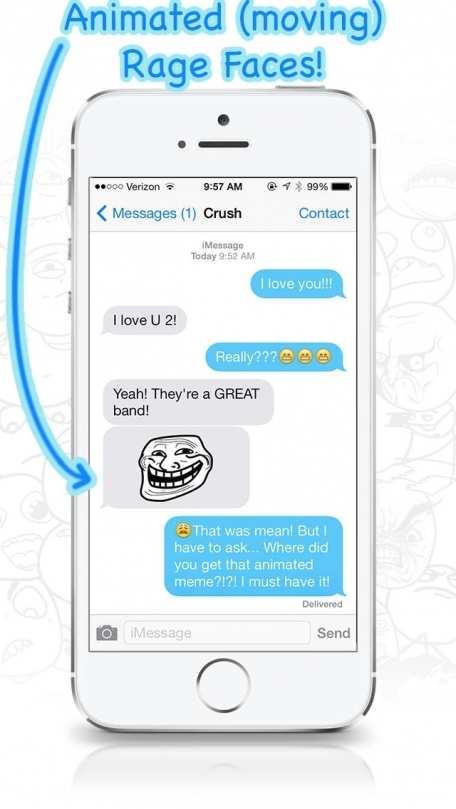 AniMeme - Animated Rage Faces Stickers for iOS7 iMessages