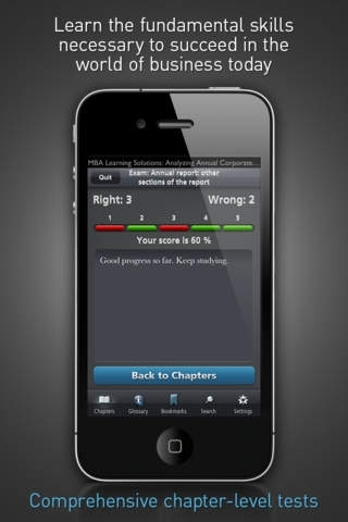 Annual Corporate Reports Analyzing - MBA Learning Solutions for iPhone