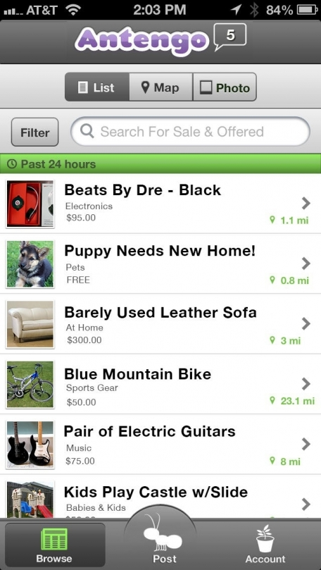 Antengo Free Mobile Classifieds Marketplace: Local Buying, Selling, and Dating