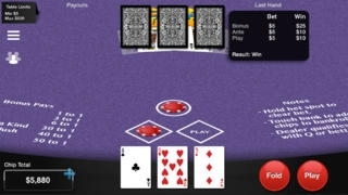 Any Card Poker: 3 Card Poker, 4 Card Poker and 5 Cards Stud Poker. Simulated Casino Gambling Table Card Game