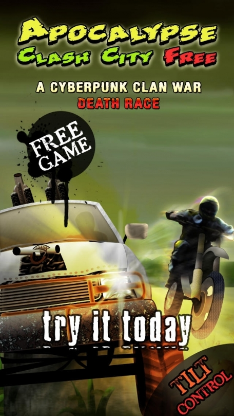 Apocalypse Clash City Free : A Cyberpunk Clan War Death Race game