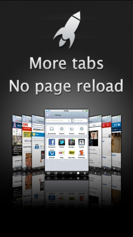 Apollo Browser + Addons like adblock, share to FB Google+ Evernote Pinterest