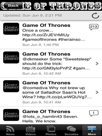 App for Game of Thrones
