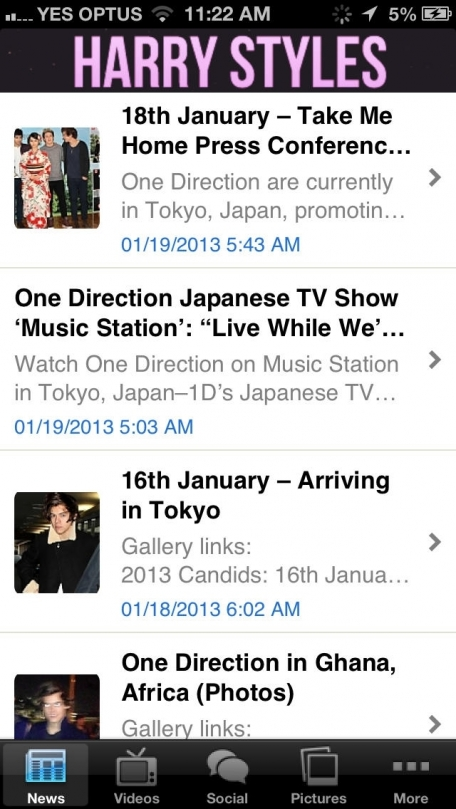 App for Harry Styles