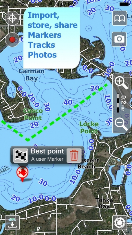 Aqua Map New Hampshire - Lakes GPS Offline Nautical Charts