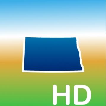 Aqua Map North Dakota HD - Lakes GPS Offline Nautical Charts