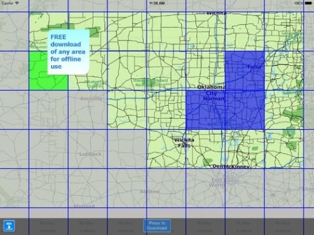 Aqua Map Oklahoma HD - Lakes GPS Offline Nautical Charts